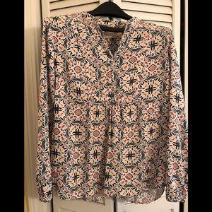 Loft cotton blend loose fitting blouse